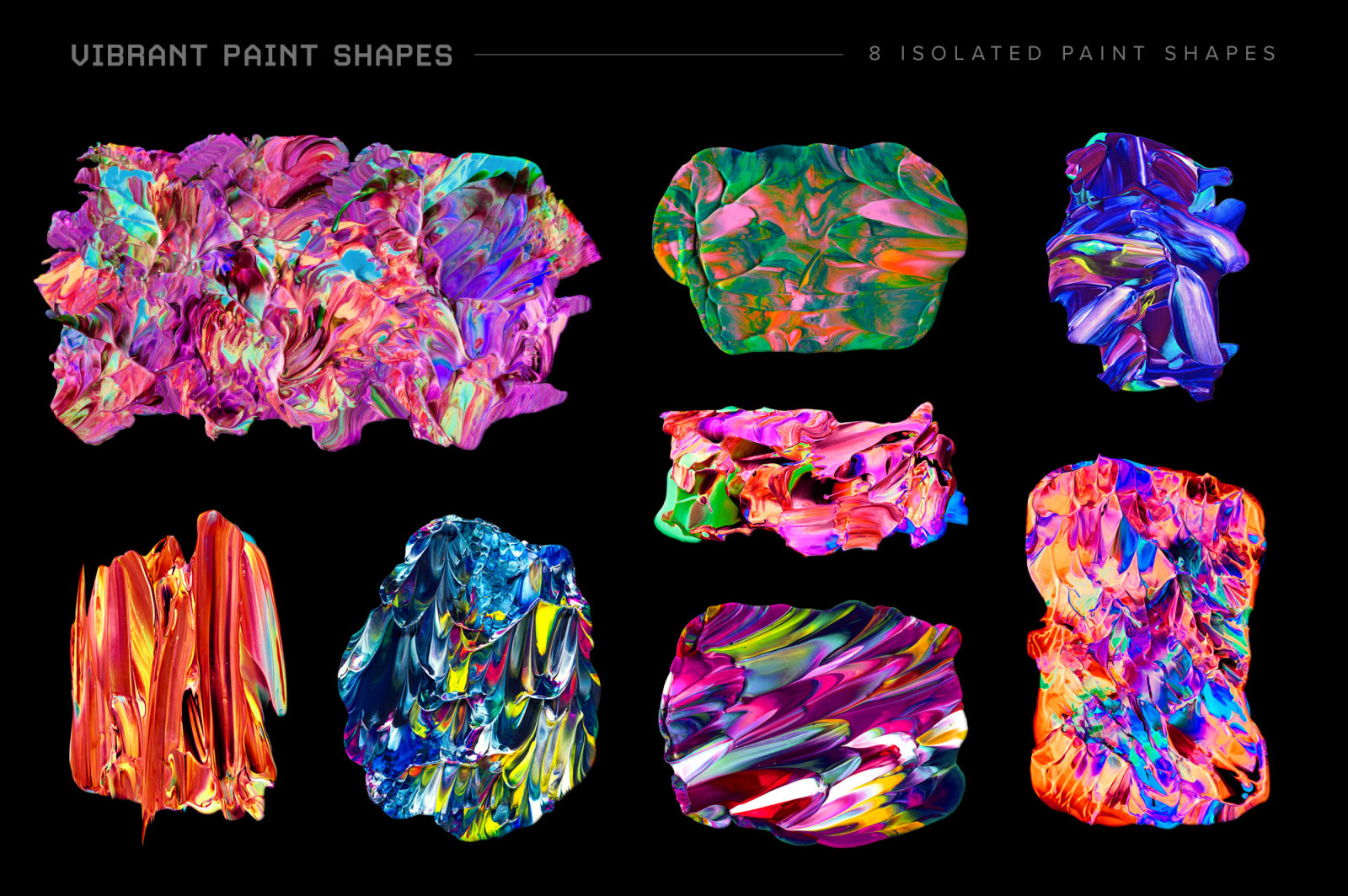 Vibrant Paint Shapes