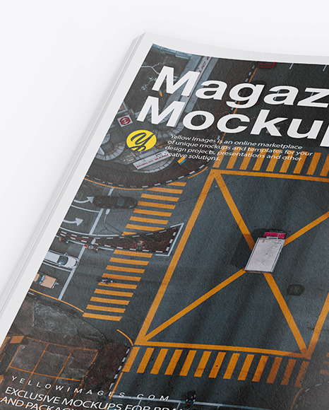Download Textured A4 Magazine Mockup In Stationery Mockups On Yellow Images Object Mockups Yellowimages Mockups