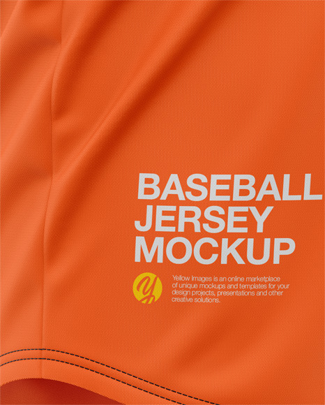Men's Baseball Jersey Mockup - Side View - Baseball T-shirt