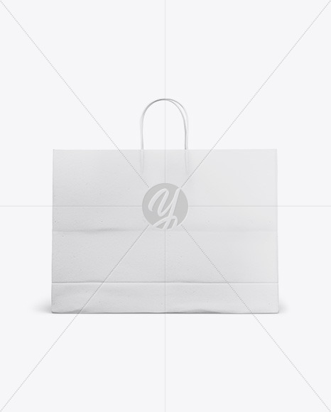 Paper Shopping Bag with Rope Handle Mockup - Front View