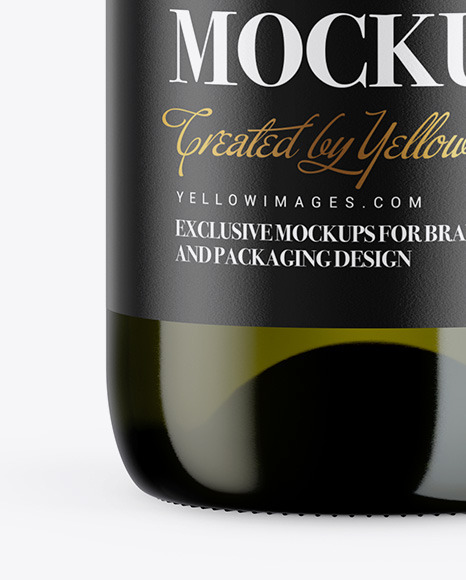 1.5L Green Glass Wine Bottle Mockup