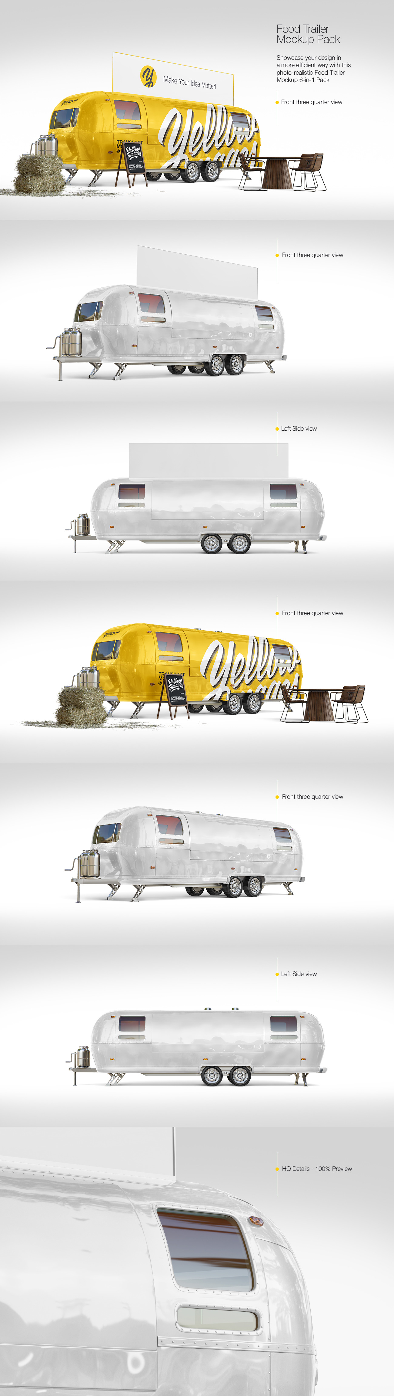 Food Trailer Mockup Pack