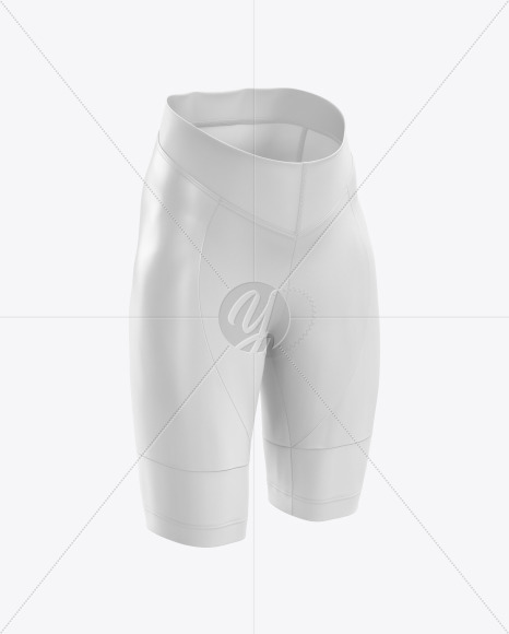 Women's Cycling Shorts mockup (Right Half Side View)