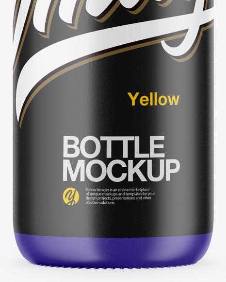 Plastic Matte Bottle Mockup