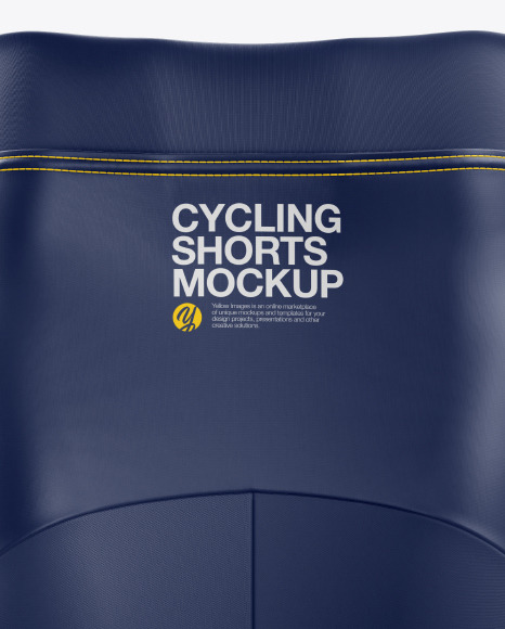 Women's Cycling Shorts mockup (Back View)