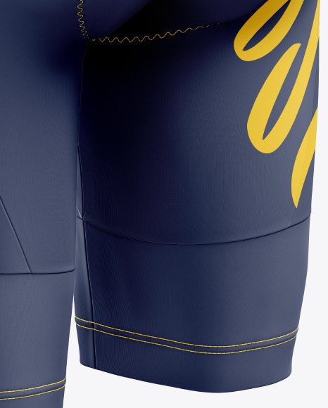 Women's Cycling Shorts mockup (Back Half Side View)