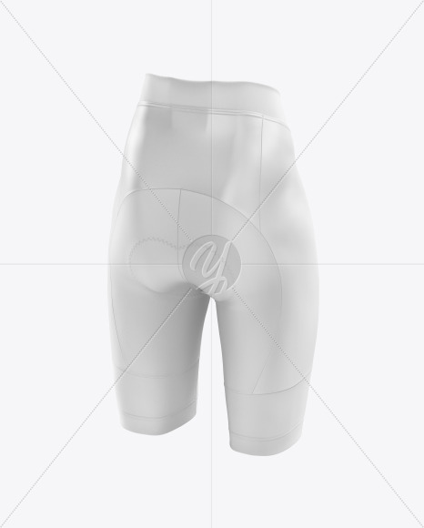 Download Cycling Shorts Mockup Back Hald Side View Yellow Images