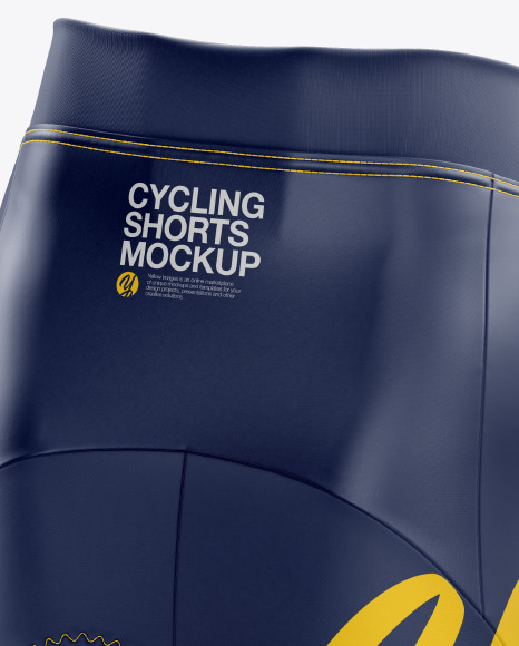 Download Shorts Mockup Back Half Side View Yellow Images