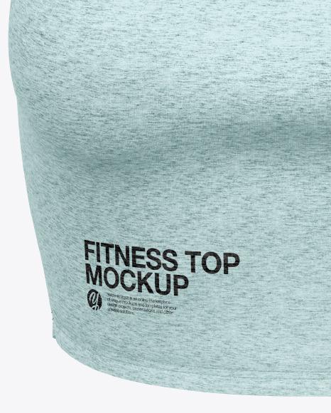 Melange Women's Fitness Top Mockup