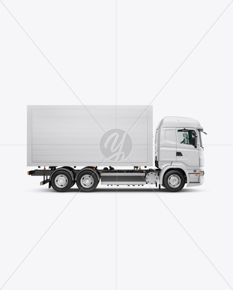 Truck Mockup - Side View - Yellowimages Mockups
