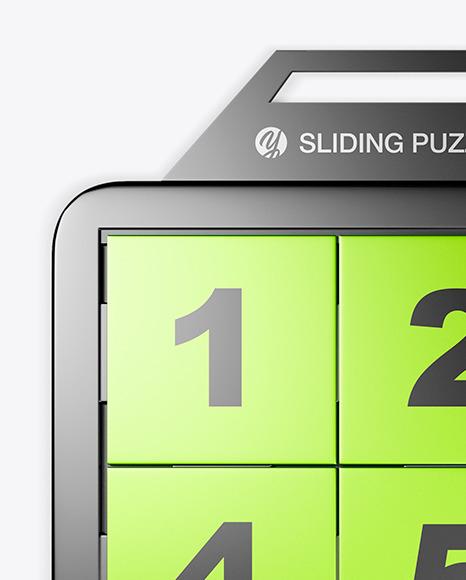 Metallic Sliding Puzzle Mockup