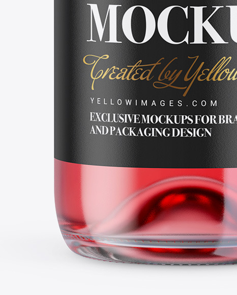 1.5L Rose Wine Bottle Mockup