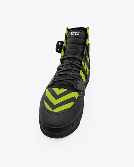 Download Cycling Shoe Mockup Yellow Images