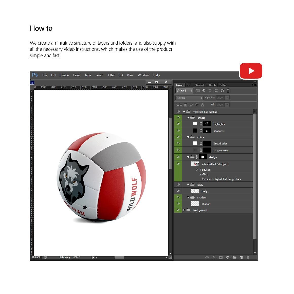 Volleyball Ball Animated Mockup