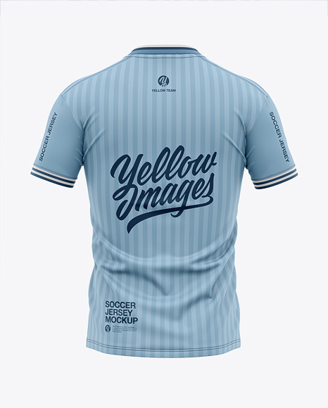 Download Soccer Jersey Mockup Back View Yellowimages