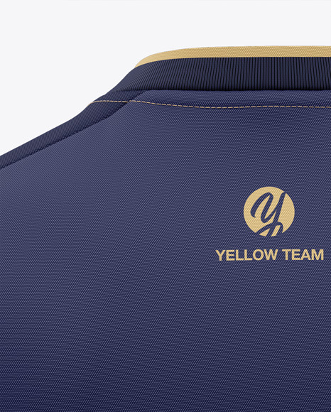 Download Football Kit With V Neck Long Sleeve Mockup Back View Yellowimages