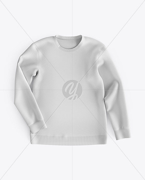 Sweatshirt Mockup - Top View