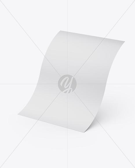 Glossy A4 Paper Sheet Mockup