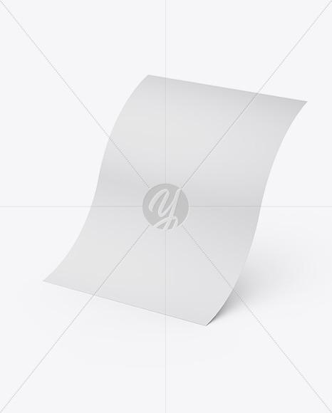 Matte A4 Paper Sheet Mockup