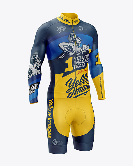 Download Mens Cycling Kit Mockup Front View Yellowimages