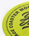 Metallized Beverage Coaster Mockup