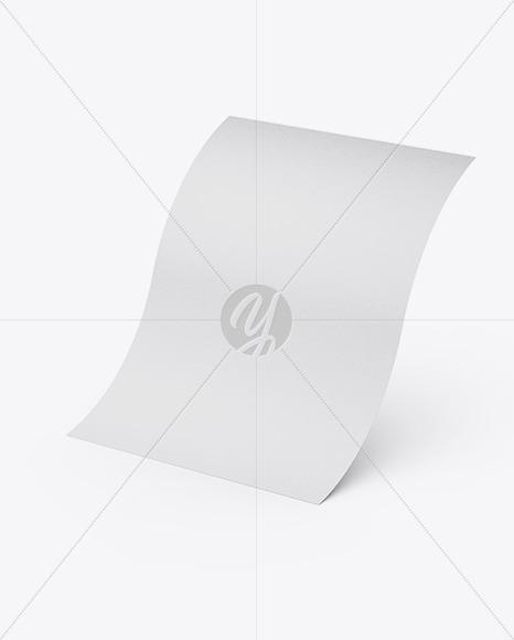 Textured A4 Paper Sheet Mockup