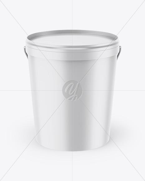 Matte Bucket Mockup
