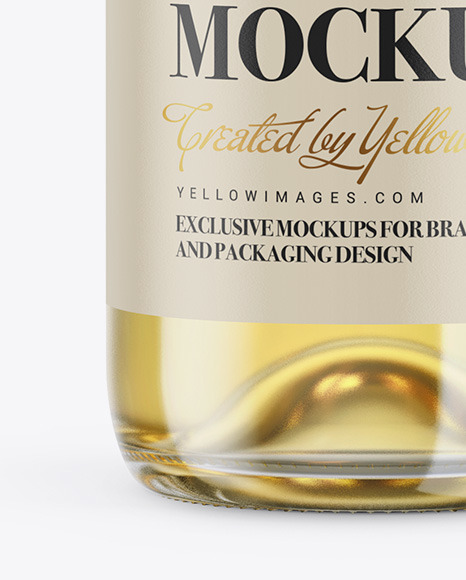 1.5L White Wine Bottle Mockup