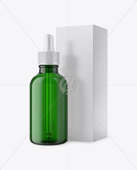 Download 15ml Clear Glass Dropper Bottle Kraft Box PSD - Free PSD Mockup Templates