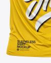 Men's Loose Fit Sleeveless Shirt Mockup