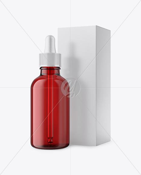 50ml Red Glass Dropper Bottle W/ Box