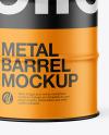 Matte Metal Barrel Mockup