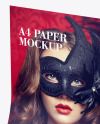 Glossy A4 Paper Mockup