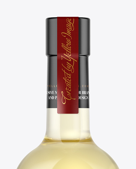White Wine Bottle With Cork Mockup