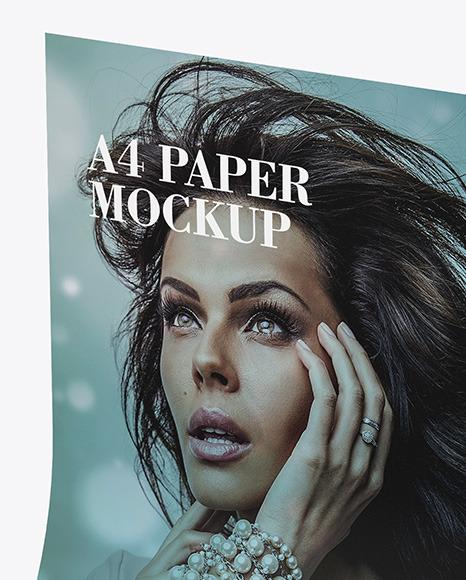 Matte A4 Paper Mockup