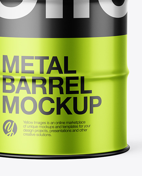 Metallic Barrel Mockup