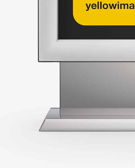 Metallic LED Light Box Mockup - Front View