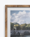 Wooden Frame w/ Textured Picture Mockup