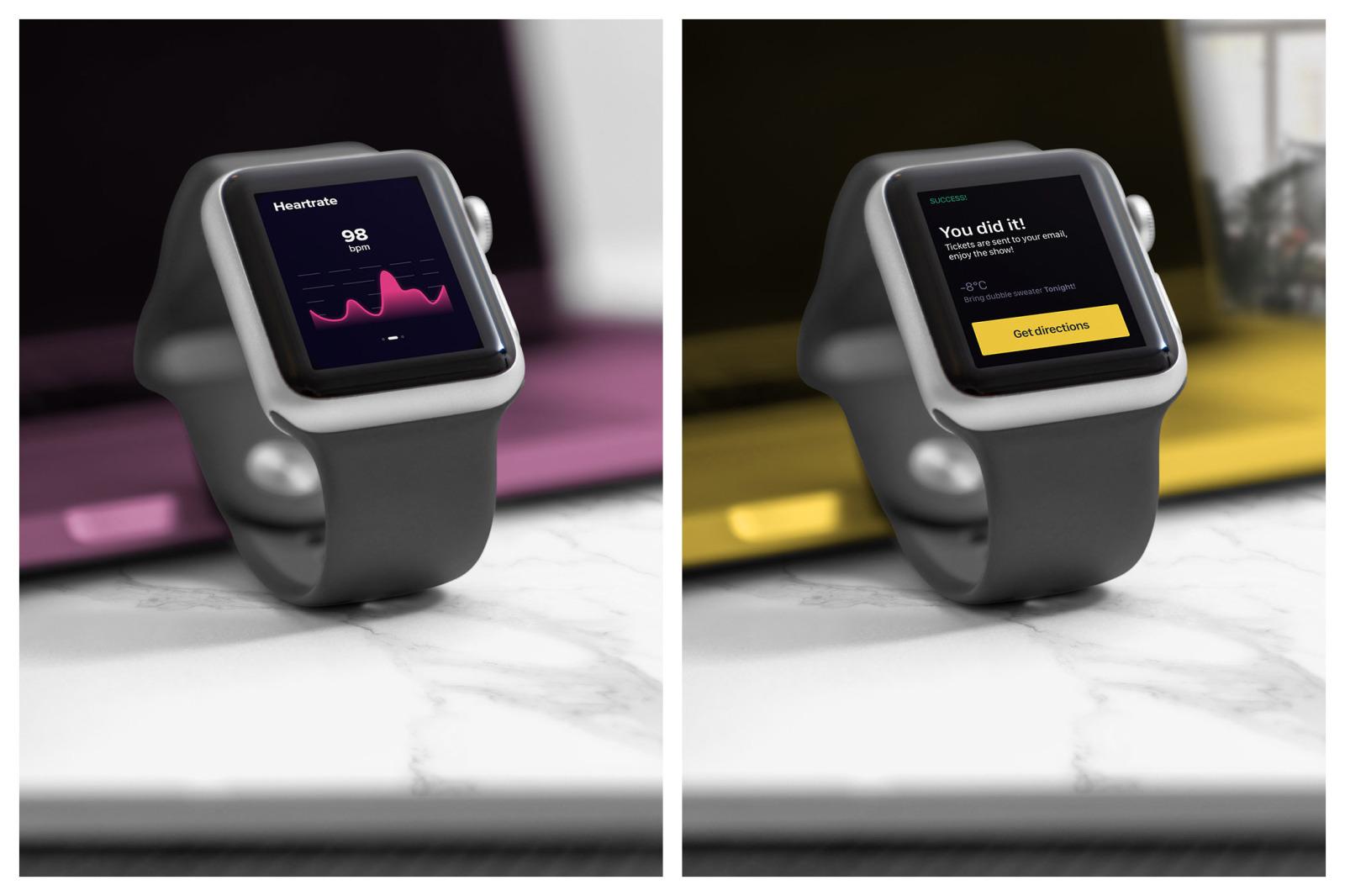 Realistic Smart Watch Mockups