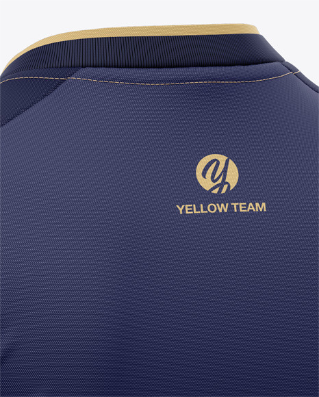 Men's Soccer V-Neck Jersey Mockup - Back Half-Side View - Football Jersey T-shirt