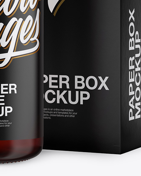 50ml Dark Amber Glass Dropper Bottle W/ Box