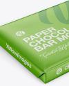 Paper Glossy Chocolate Bar Mockup - Halfside View (High Angle Shot)