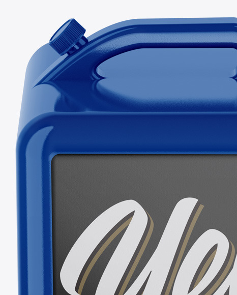 Glossy Jerry Can Mockup