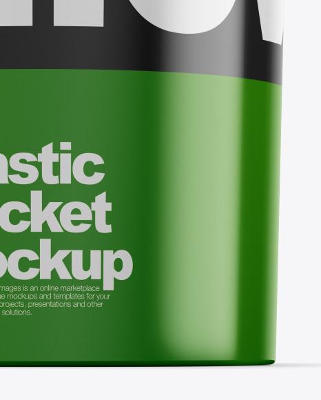 Plastic Bucket Mockup