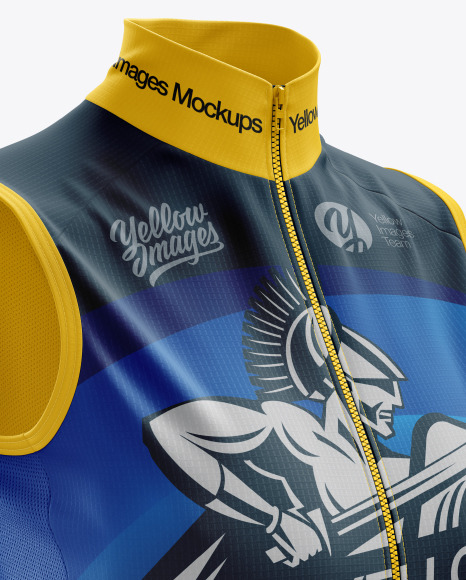 Women's Cycling Wind Vest mockup (Right Half Side View)