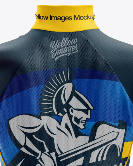 Women's Cycling Wind Vest mockup (Back View)