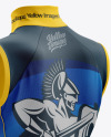 Women's Cycling Wind Vest mockup (Back Half Side View)