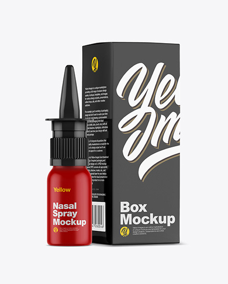 Matte Spray Bottle Mockup