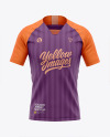 Men's Soccer Raglan Jersey Mockup - Front View - Football Jersey Soccer T-shirt