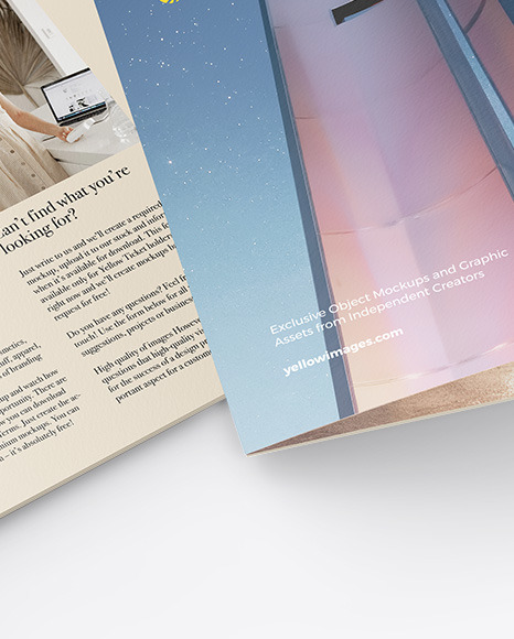 Two A4 Brochures Mockup